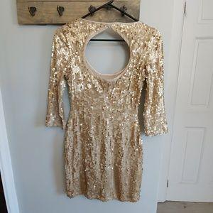 Arden B gold sequin dress